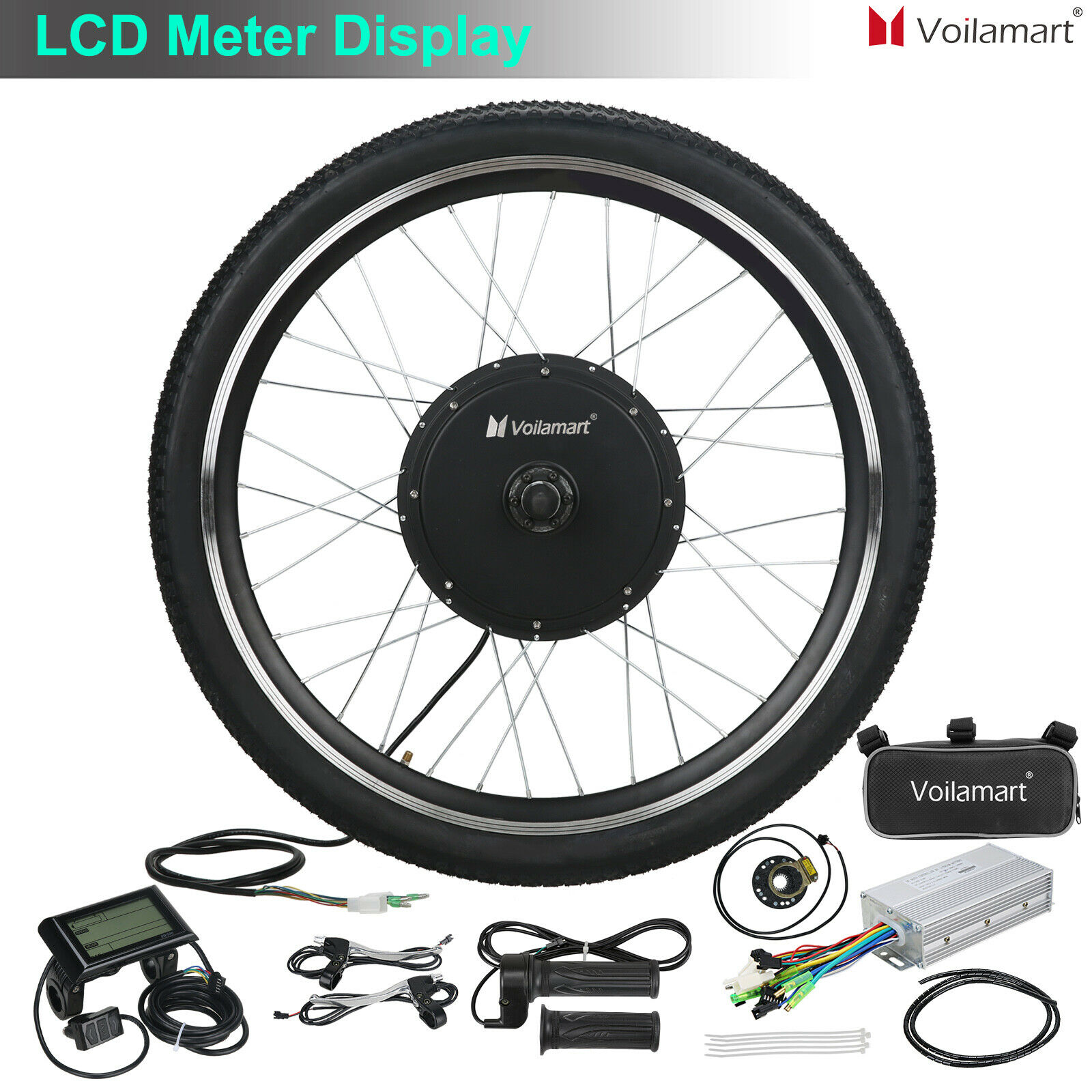 e-bike Conversion Kit 48V 500W front rear Gearless motor Wheel 20-29IN 40-50km//h