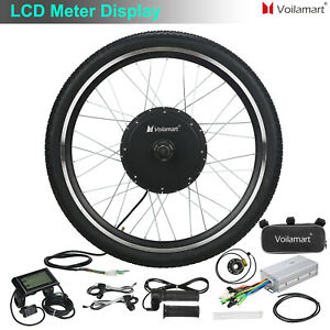 Front Wheel 48V 1000W Electric Bicycle Motor Conversion Kit E Bike LCD Meter Hub