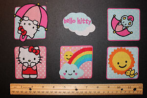 Hello-Kitty-Fabric-Iron-On-Appliques-style-6-ADORABLE-IRON-ONS