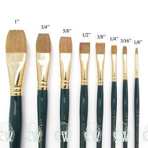 Pro-Arte-Artists-Renaissance-Sable-FLAT-Single-Brushes-Watercolour-Painting