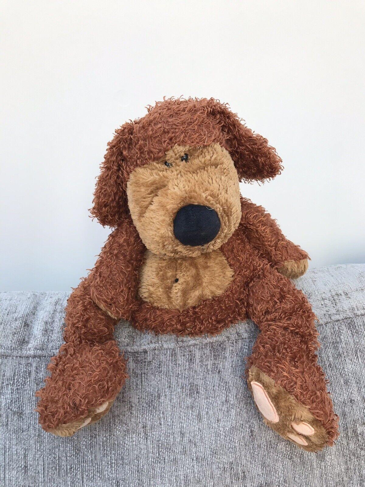 Jellycat puppy Paw Paw Puppy Dog Bunglie Soft Toy Plush Brown Chein 12.5
