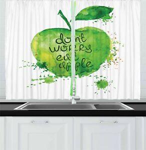 Details about Fruit Kitchen Curtains 2 Panel Set Home Decor Window Drapes  55\