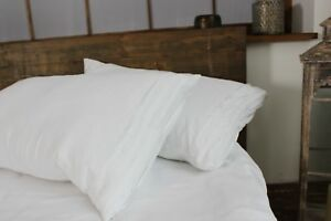 100-Linen-Pillowcase-with-Decorative-Pleats-Standard-Queen-King-Euro-Sizes