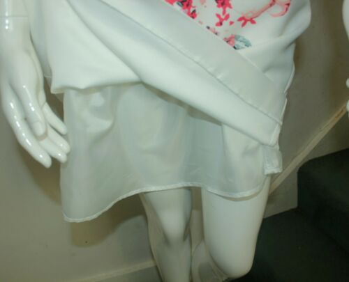 Laura Ashley White Pink Floral Scoop Neck 3//4 Sleeves Shift Dress 8 10 12 14 16