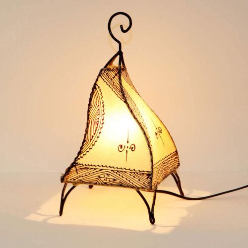 """Orientalische Lampe Henna-Lederleuchte Marokkanische Stehlampe /""""Fatuta natur/"""""""