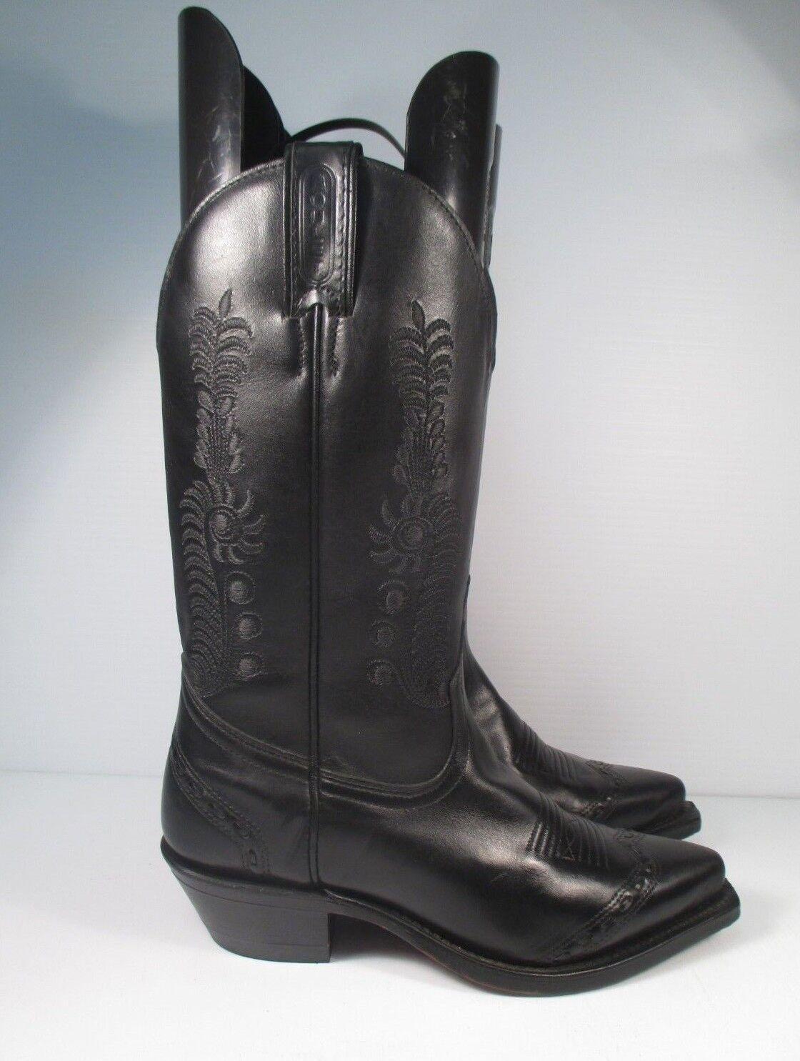 prezzi bassi Boulet nero Leather Donna  Cowgirl Cowgirl Cowgirl Western stivali  Dimensione 6.5 C     270.00 MSRP  goditi il 50% di sconto