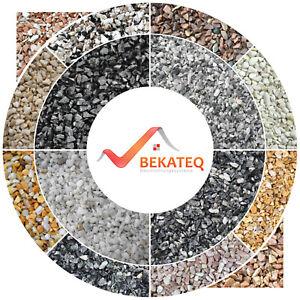 Steinteppich SET Bindemittel Marmorkies Bodenprofil Marmorsplitt Epoxidharz