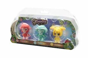Glimmies-Triple-Blister-Pluma-Rubina-Cornelie-Dolls-Llight-Up-Function