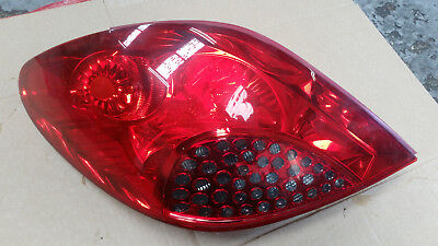 2006-2009 PEUGEOT 207 PAIR O//S DRIVER N//S PASSENGER SIDE REAR TAIL BACK LIGHTS