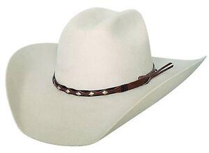 EL CATEGO Leather Trim Black Bullhide 8X Fur Blend  Cowboy Hat