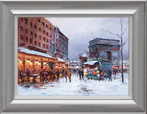 Henderson-Cisz-Paris-in-the-Snow-Framed-Limited-Edition-Print