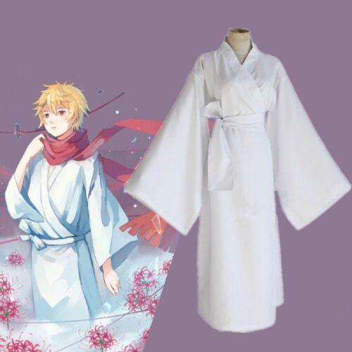 Anime Noragami ARAGOTO Yukine cosplay White Yukata Kimono Costume