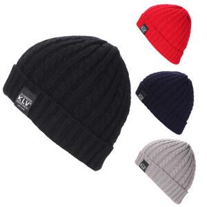 73c3421482d Mens Women Baggy Warm Crochet Winter Wool Knit Ski Beanie Skull ...