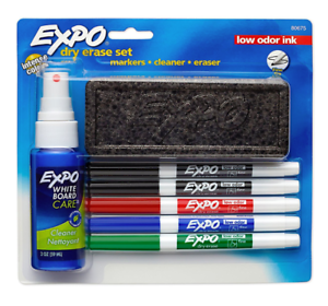 Details About Expo 80675 Expo Low Odor Dry Erase Set Fine Point Assorted Colors 4 Pack