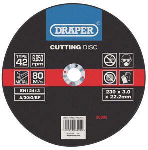 Genuino-Draper-Hundido-Centro-Metal-Discos-de-Corte-230-x-3-0-x-22-2mm-26902