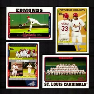 2005-Topps-ST-LOUIS-CARDINALS-Team-Set-with-Updates-52-Cards-NM-MT
