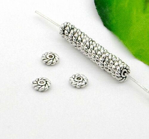 200Pcs Tibetan Silver Spacer Bead Loose beads For Jewellery Craft Making 6x2mm