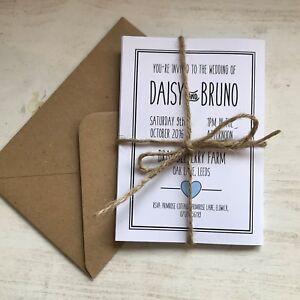Inviti Matrimonio Country Chic : Handmade folded wedding invites invitations with tag rustic vintage