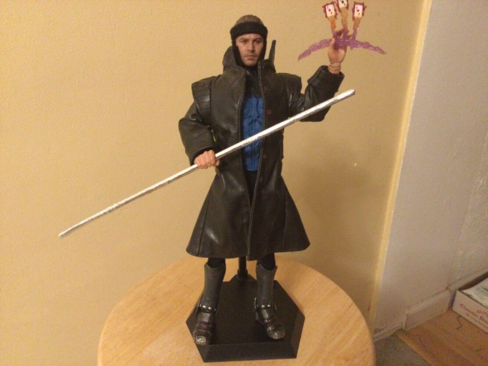 "1/6 custom X-men Gambit figure not hot toys sideshow used 12"" inch on eBay thumbnail"