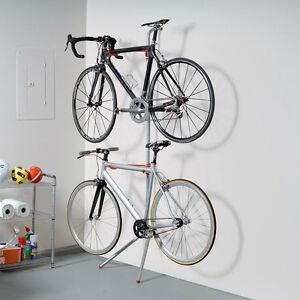 Bike Garage Storage Rack Stand 2 Bicycle Wall Gravity Indoor Home ...