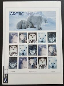 USA-1998-Arctic-Animals-Bear-Fox-Hare-Owl-Wolf-15v-Stamps-Sheetlet-Mint-Pane-NH