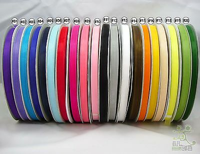 "3/8""9mm mixed color sheer Organza RIBBON 20 colors wedding sewing 5 yard U pick"