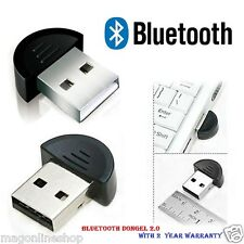 mini USB 2.0 Bluetooth Dongle PLUG n PLAY + 1 Year Manufacturer Warranty