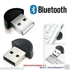 Enter™ mini USB 2.0 Bluetooth Dongle PLUG n PLAY + 2Year Manufacturer Warranty