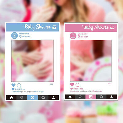 1 Piece Large Size Party Props Photo Booth Selfie Frame Girl Baby Shower Pink UK