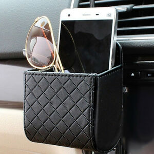 Hot-Multifunctional-Car-Auto-Air-Vent-PU-Leather-Mobile-Phone-Holder-Bag-Pouch