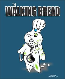 Image Is Loading New T Shirt Walking Bread Funny Dough Boy