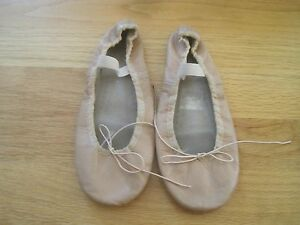 Girls Pink Leather Ballet Dance Shoes