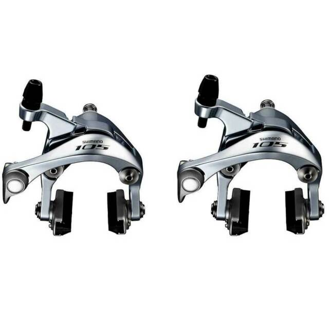 Shimano 105 BR-5800 Dual-Pivot SLR Brake Caliper Front/&Rear Complete Pair Silver