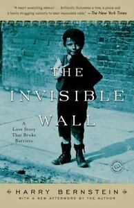 THE-INVISIBLE-WALL-by-Harry-Bernstein-FREE-SHIPPING-paperback-book-memoir-love