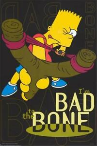 The Simpsons Bart Simpson Bad to the Bone 1999 Poster 24x36