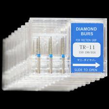 10 Boxes Tr 11 Mani Dia Burs Fg 16mm Dental High Speed Handpiece Diamond Bur