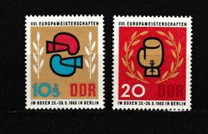 S35002 DDR MNH 1965 European Boxing Games 2v