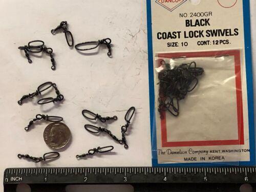 144 count BLACK COAST LOCK SWIVELS  size #10  NO 2400GR