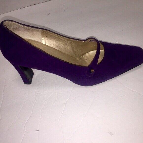 St. John purple suede pump heels shoe size 6b
