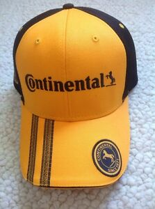d8ed140f8 Details about Auto Racing Continental Tire Embroidered Baseball Cap +  Lanyard + 2 Stickers