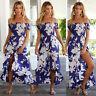 Women Summer Long Maxi BOHO Evening Party Dress Floral Beach Dress Sundress