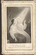 IMAGE RELIGIEUSE IMAGE PIEUSE DENTELLEE PENSEES DU CIEL 1899