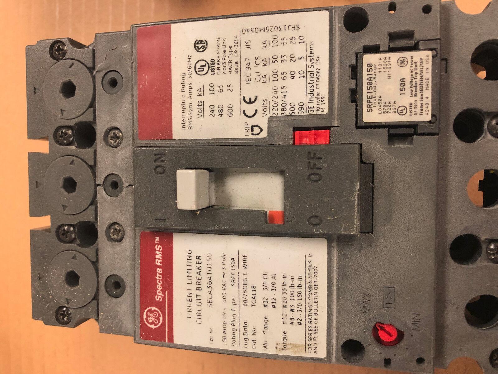 General Electric Ge Sela36at0150 3 Pole 600vac Circuit Breaker Ebay Arc Fault Interrupter Afci Industrial Solutions