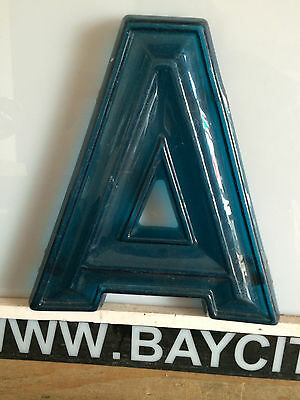 """Vintage Movie Marquee Letters-12"""" Tall Translucent Blue ~3 Dimensional Style"""