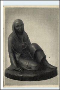 Postkarte-mit-Skulptur-AK-Kuenstler-Ernst-Barlach-Ausstellung-1951-52