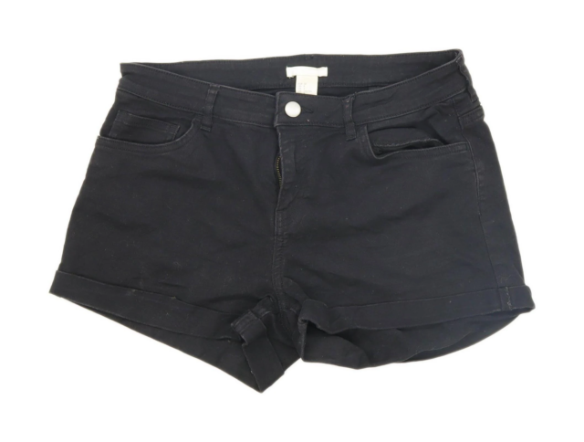 Womens H&M Black Denim Shorts Size 10/L2