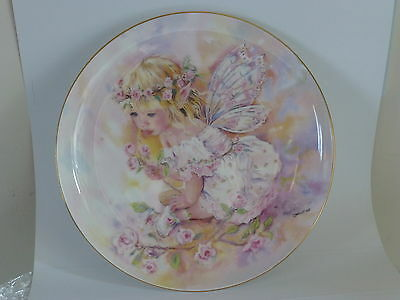 Christine Haworth Faerie Poppets Fine Bone China Plate Baby Rosebud Brand New