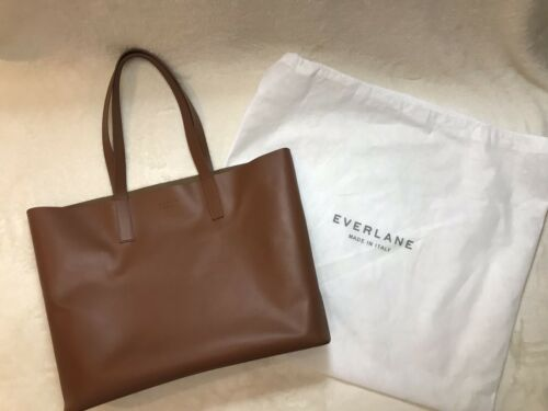 Everlane Day Market Leather Tote In Cognac