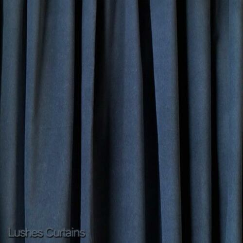Blue Velvet 11 H Curtain Extra Long Panel Sound Absorbing