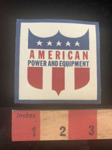Vtg Canvas Shield Patch AMERICAN POWER AND EQUIPMENT OOSK